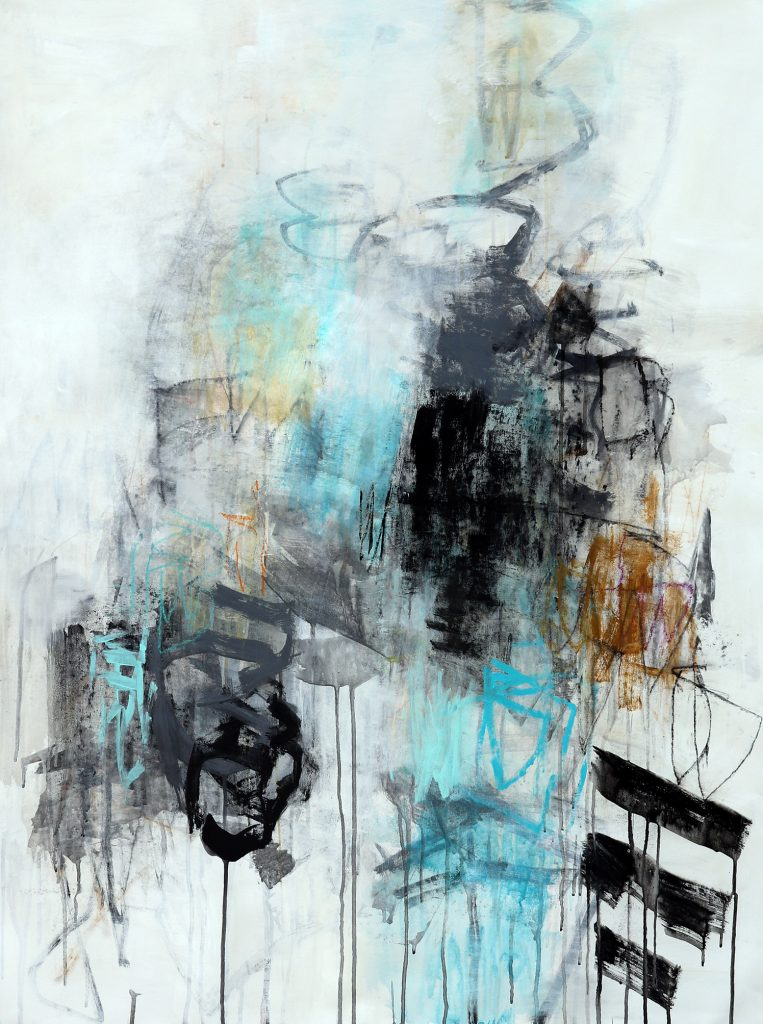 julie schumer _Into the Mist II, 46 X 36, mixed media canvas